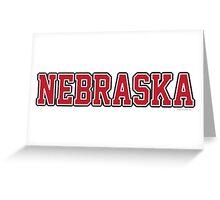 Nebraska Jersey Greeting Card