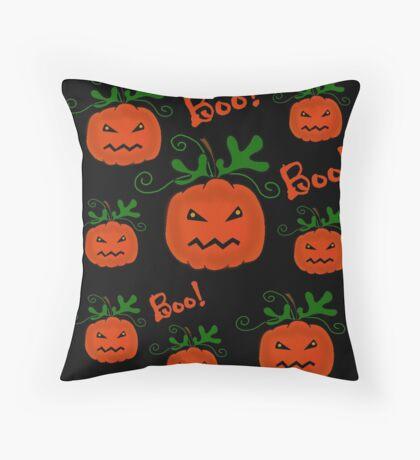 Halloween pumpkin pattern Throw Pillow