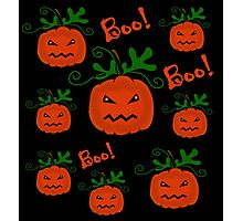 Halloween pumpkin pattern Photographic Print