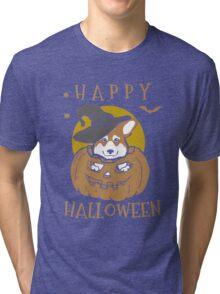 Love Corgis love halloween Tshirt Tri-blend T-Shirt