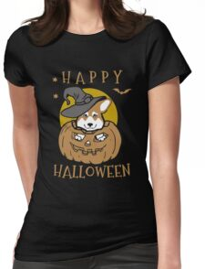 Love Corgis love halloween Tshirt Womens Fitted T-Shirt
