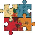 Retro puzzle symbol of autism by Marishkayu