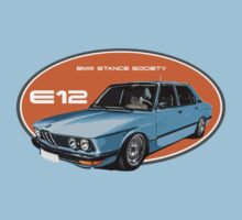 BMW E12 Stance blue by BSsociety