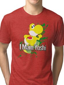 I Main Yoshi (Yellow Alt.) - Super Smash Bros. Tri-blend T-Shirt