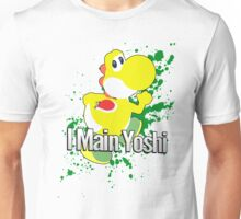 I Main Yoshi (Yellow Alt.) - Super Smash Bros. Unisex T-Shirt