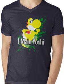 I Main Yoshi (Yellow Alt.) - Super Smash Bros. Mens V-Neck T-Shirt