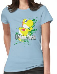 I Main Yoshi (Yellow Alt.) - Super Smash Bros. Womens Fitted T-Shirt