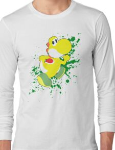 Yoshi (Yellow Alt.) - Super Smash Bros. Long Sleeve T-Shirt