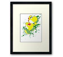 Yoshi (Yellow Alt.) - Super Smash Bros. Framed Print