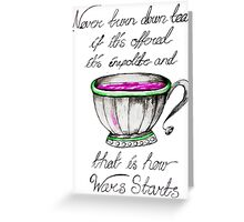 Tea wars Greeting Card