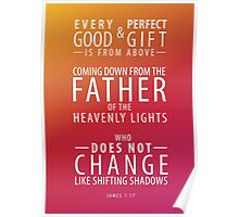James 1 Verse 17 Poster