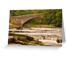 River Ribble at Stainforth Greeting Card