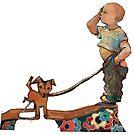 Kid n dog by Lorenzo Castello