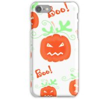 Halloween pumpkin pattern 2 iPhone Case/Skin