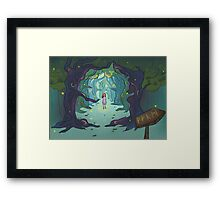 Firefly forest Framed Print