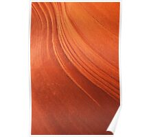 Red rock waves Poster