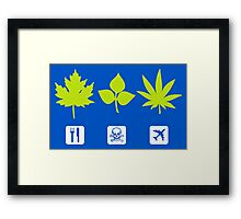 Different Types of Weeds (Shapes) Framed Print