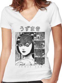 Uzumaki - Junji Ito Women's Fitted V-Neck T-Shirt