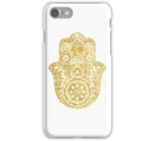 White Gold Hamsa Hand iPhone Case/Skin