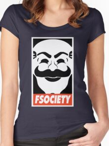 MR ROBOT New Merchandise Women's Fitted Scoop T-Shirt