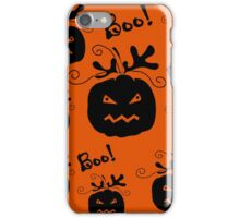 Halloween pumpkin pattern 3 iPhone Case/Skin