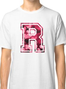 College letter R with hearts pattern Classic T-Shirt
