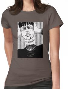 Tomio: Red turtleneck - Junji Ito Womens Fitted T-Shirt