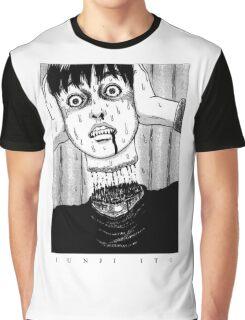 Tomio: Red turtleneck - Junji Ito Graphic T-Shirt