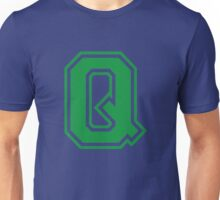 College letter Q in green Unisex T-Shirt