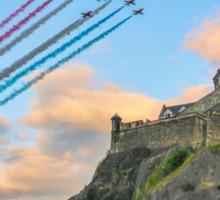 The Red Arrows Edinburgh Castle Sticker