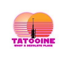 Tatooine 80's Retro Sign Photographic Print
