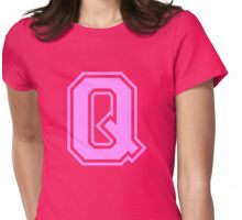 College letter Q in pink Womens Fitted T-Shirt
