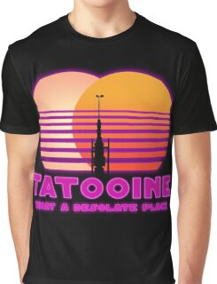 Tatooine 80's Retro Sign Graphic T-Shirt
