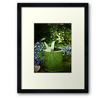 Johns Watering Can  Framed Print