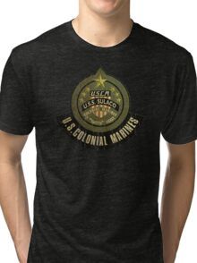 Aliens US Colonial Marines patch grunge Tri-blend T-Shirt