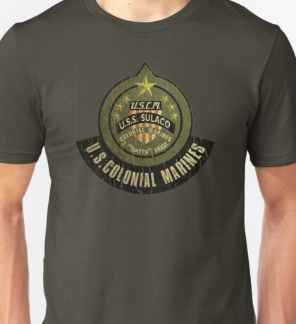 Aliens US Colonial Marines patch grunge Unisex T-Shirt
