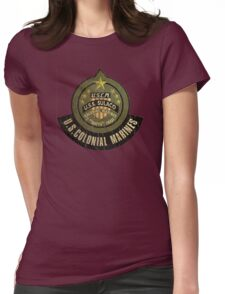 Aliens US Colonial Marines patch grunge Womens Fitted T-Shirt