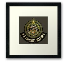Aliens US Colonial Marines patch grunge Framed Print