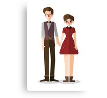 Clara and The Doctor Canvas Print