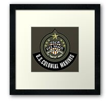 Aliens US Colonial Marines patch Framed Print