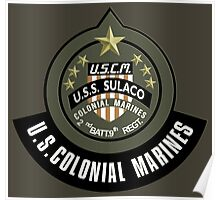 Aliens US Colonial Marines patch Poster