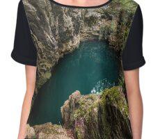 Lacul Dracului in Romania Chiffon Top