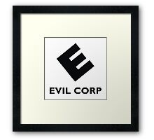 EVIL CORP Gifts and Merchandise Framed Print