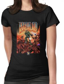 Halo-Doom Womens Fitted T-Shirt