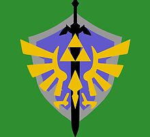 Triforce Shield and Sword by LookItsHailey
