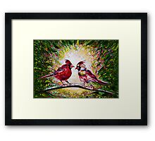 Cardinals Chat  Framed Print