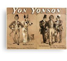 Yon Yonson - Strobridge - 1892 Canvas Print
