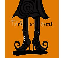 Halloween - witch boots Photographic Print