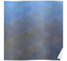 Geometric Pattern, Pale Blues and Browns Poster