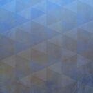 Geometric Pattern, Pale Blues and Browns by Cherie Balowski